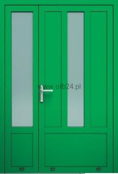 Ogromny drzwi aluminiowe zewnętrzne AW 001-2 dwuskrzydłowe OLBANET IF83