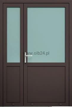 Młodzieńczy drzwi aluminiowe zewnętrzne AW 007-2 dwuskrzydłowe OLBANET AU51
