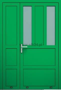 Wszystkie nowe drzwi aluminiowe zewnętrzne AW 016-2 dwuskrzydłowe OLBANET IK15