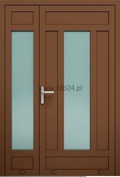 Wspaniały drzwi aluminiowe zewnętrzne AW 031-2 dwuskrzydłowe OLBANET IZ27